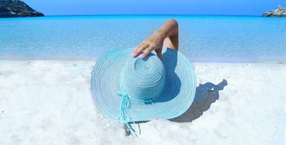 Sandy Beaches with Hat